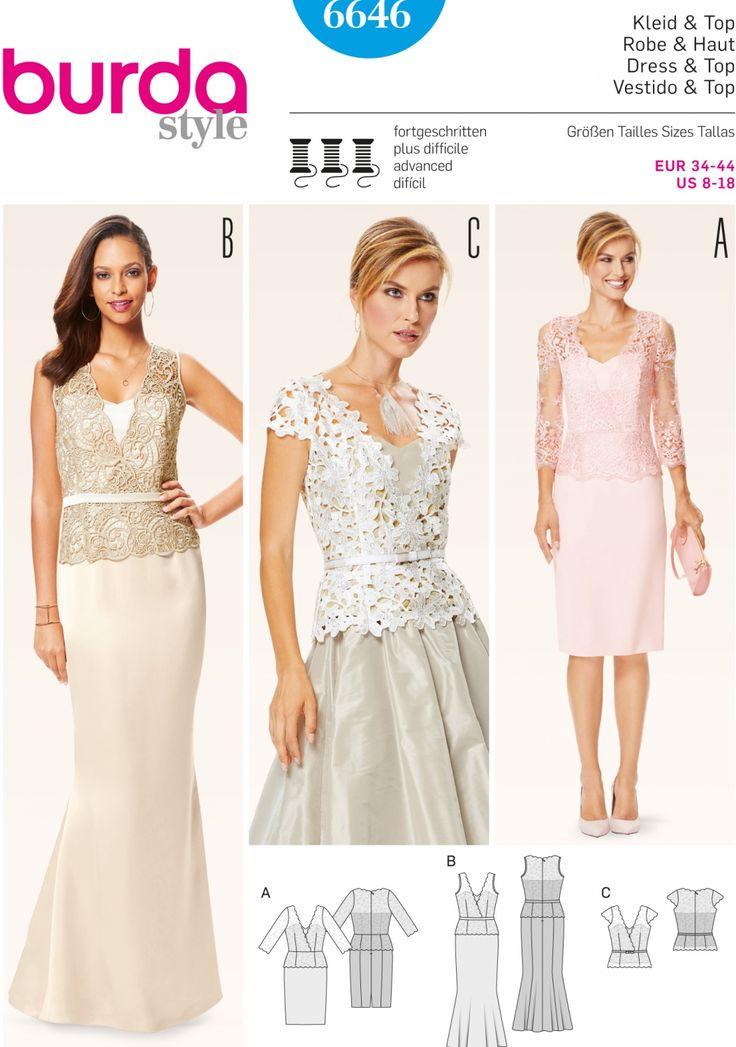 Best 20 patron burda robe ideas on pinterest patron burda burda couture and burda fashion - Patron de robe de soiree ...