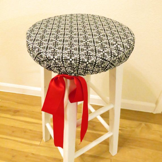 Custom Padded Bar Stool Cover By Boutifuleeboutique On