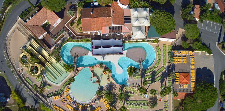 A 4,5 km des plages de Fréjus Saint Raphaël, village de vacances 5 étoiles dans le Var camping Domaine du Colombier : piscines chauffées-spa-animation