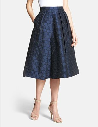 PINK TARTAN 'Spot On' Midi Skirt