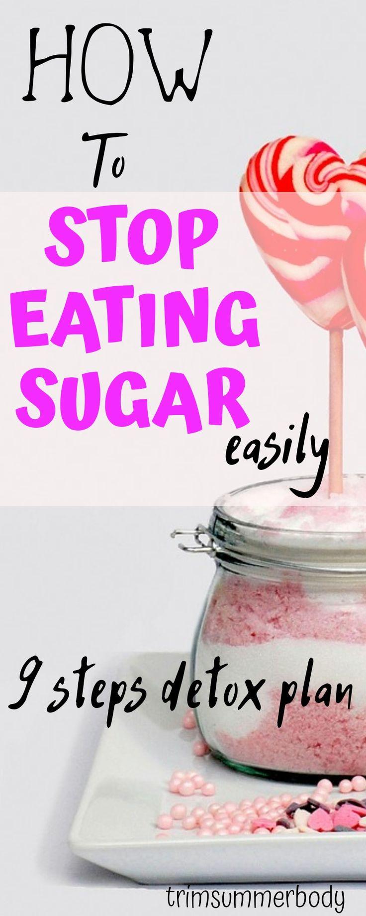 Stop sugar addiction and stop eating sugar with this detox plan