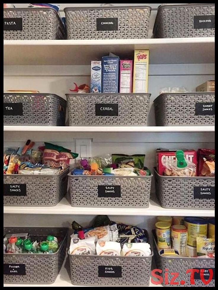 25 Best Pantry Organization Ideas We Found On Pinterest Kleine Speisekammerorganisation Kleine Pantry Kuchenschubladen