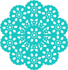 antique doily------------------------I think I'm in love with this shape from the Silhouette Design Store!