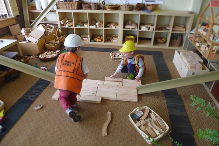"Wish we had this much space for building - at 'Discovery Early Learning Center' ("",)"