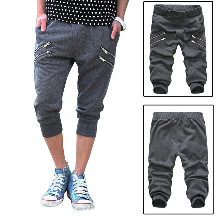 Zip bape cotton hip hop dance harem bandana Capri pants  men rope baggy sport sarouel track pant parkour jogging trousers US $17.50