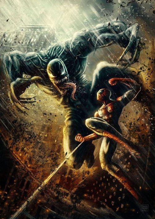 Spider-Man vs Venom by Patricio Clarey