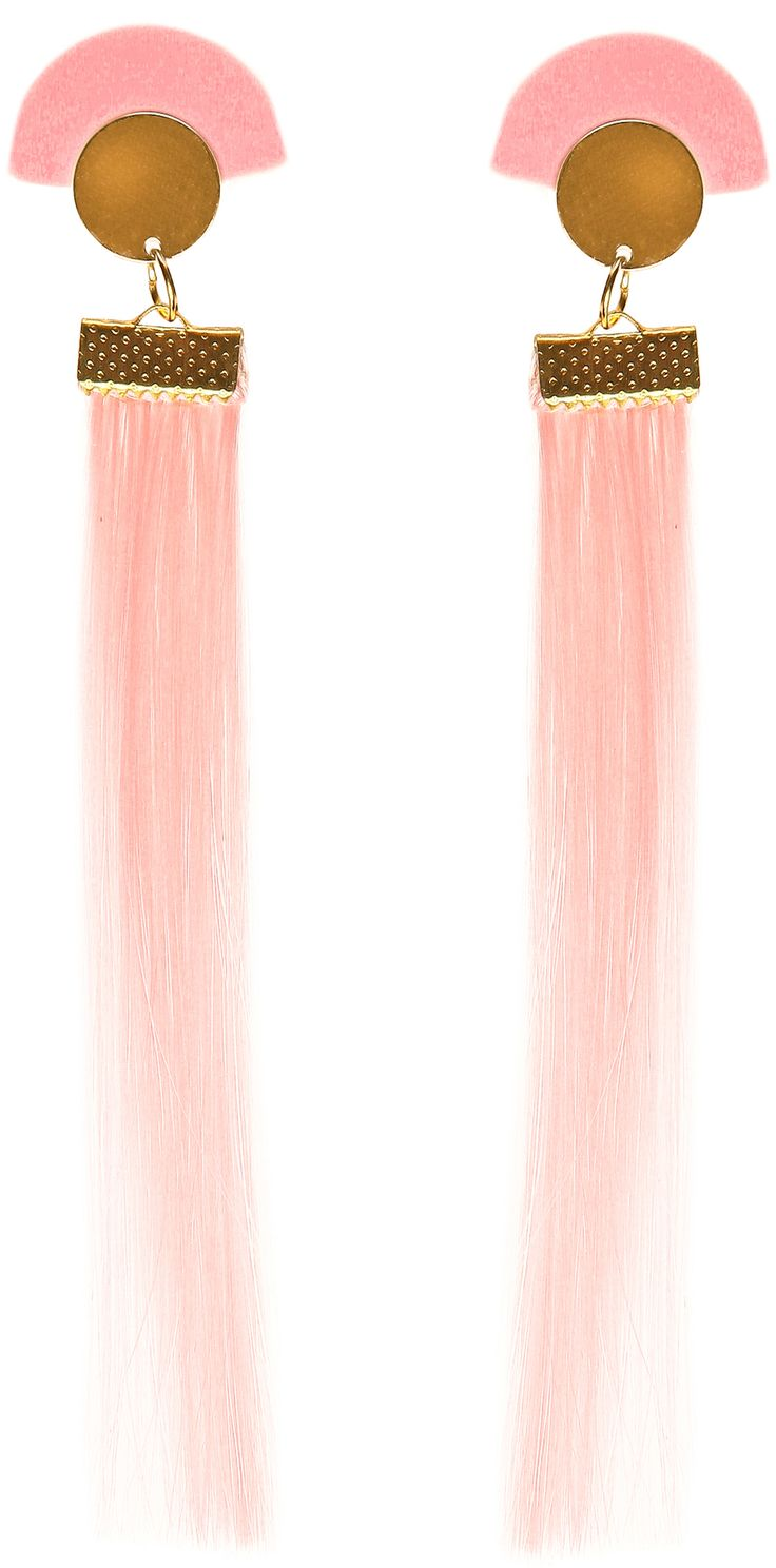 MORE is LOVE | Suzywan Deluxe - Pink Tassel Earrings - Earrings