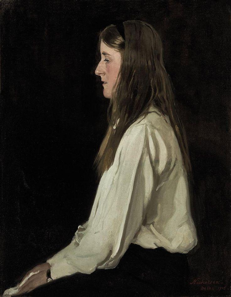 Sir William Nicholson (1872-1949), Portrait of Diamond Hardinge, 1915, oil on canvas, 92 x 71 cm