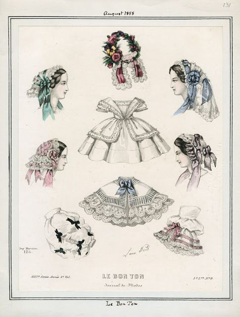 Le Bon Ton, August 1858.  LAPL Visual Collection.  Civil War Era Fashion Plate