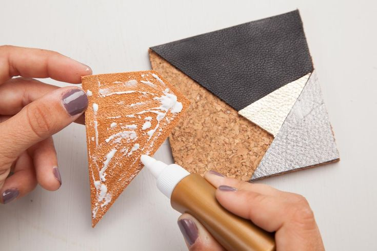 Geometric Leather Coasters | Maker Crate