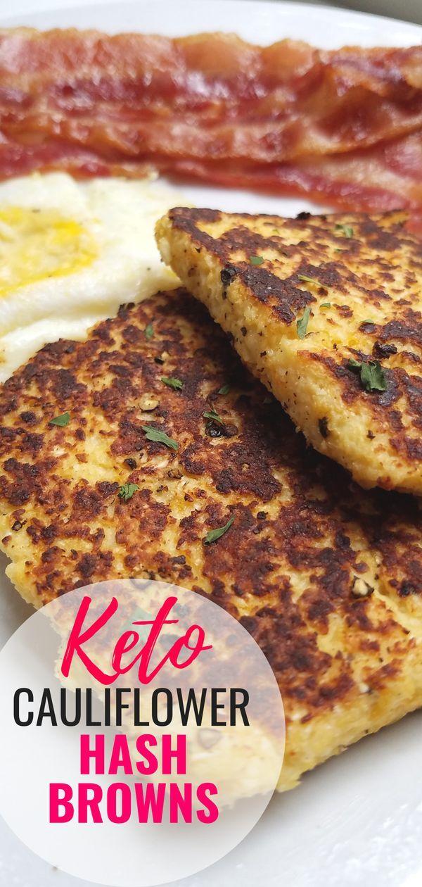 Cauliflower Hash Browns Recipe Keto Diet Breakfast Low Carb