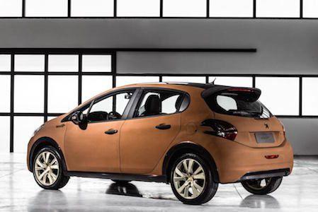 "Peugeot ""208 Natural"": pietre naturali ultrasottili per lo spoiler posteriori"
