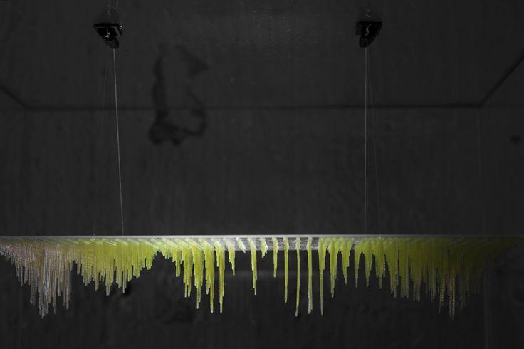 """Maqueta realizada en resina para la representación de las ondas en el espacio de la exposición """"Geometrías Armónicas"""" en el centro cultural La Neomudejar en Madrid."""
