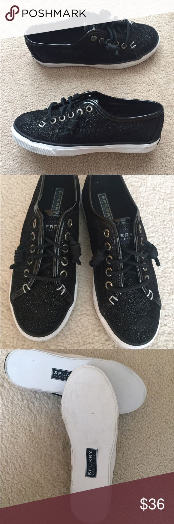 Sperry Top Sider black leather women's 5.5 M New Sperry Top Sider black leather women's 5.5 M New Sperry Top-Sider Shoes Sneakers