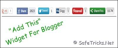"""Add """"Share This"""" Plugin Under Every Blogger Post"""