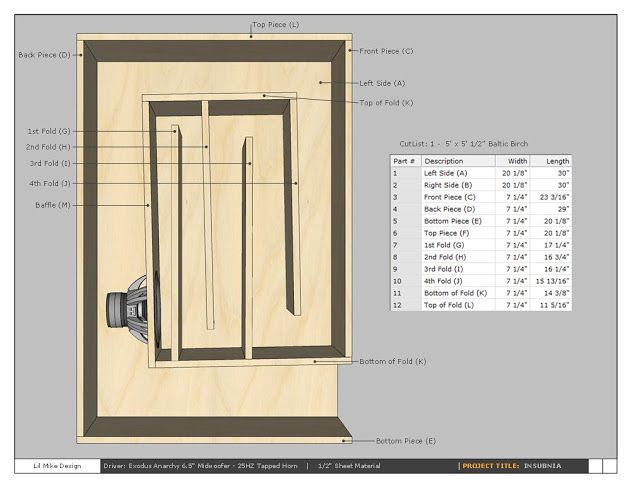 Reed Exodus Anarchy 25hz Tapped Horn   AVS | Home Theater Discussions And  Reviews · Speaker PlansDiy ...