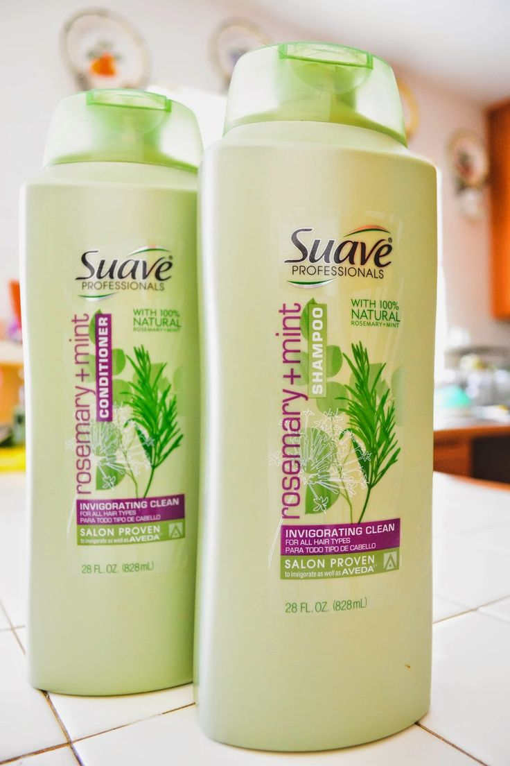This post explains the benefits of rosemary in shampoo and how it can help with hair growth  Product Review: Suave Rosemary Mint Shampoo/Conditioner: