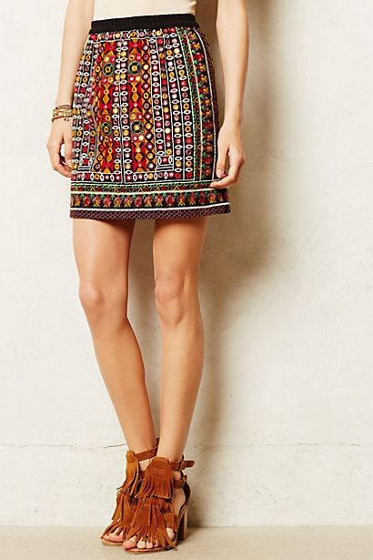 How cute is this? Espejo Stitched Skirt - anthropologie.com