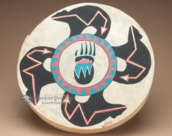 Native American Hand Drum - Four Bears -