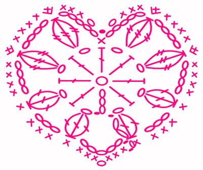491 best images about CORAZONES TEJIDOS on Pinterest   Free pattern  La web and Heart granny square