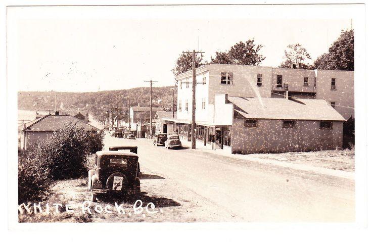 BC – WHITE ROCK, Marine Drive c.1940 RPPC