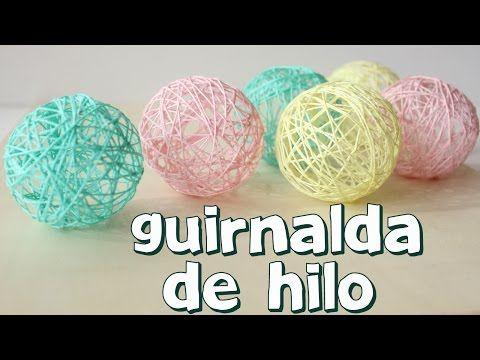 Cómo hacer una guirnalda de luces con hilo - YouTube