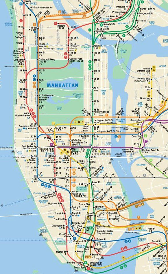 City Subway Map.New York City Subway Map Borderless Travelers Nyc Picture Nyc