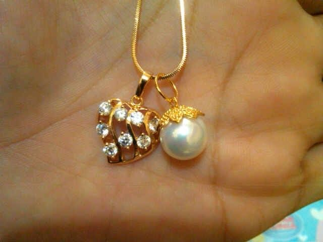 Fresh water pearl necklace $19.00
