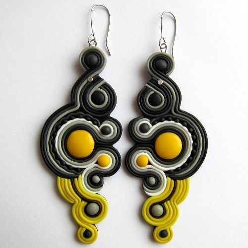 I think I will utilize this polymer soutache technique.-Alyson Jon