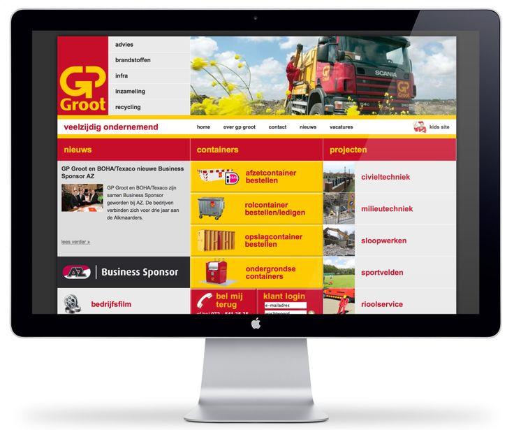 Website design voor GP Groot
