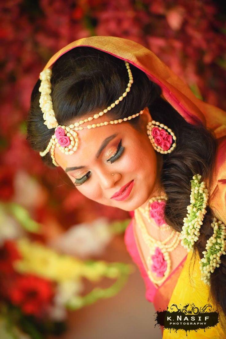 Bangladeshi bride in holud ceremony
