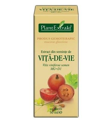 Produs gemoterapic nou: Extract din semințe de viță de vie (VITIS VINIFERA) - 50ml. Este un antioxidant care ajută la menținerea sănătății sistemului cardio-vascular.
