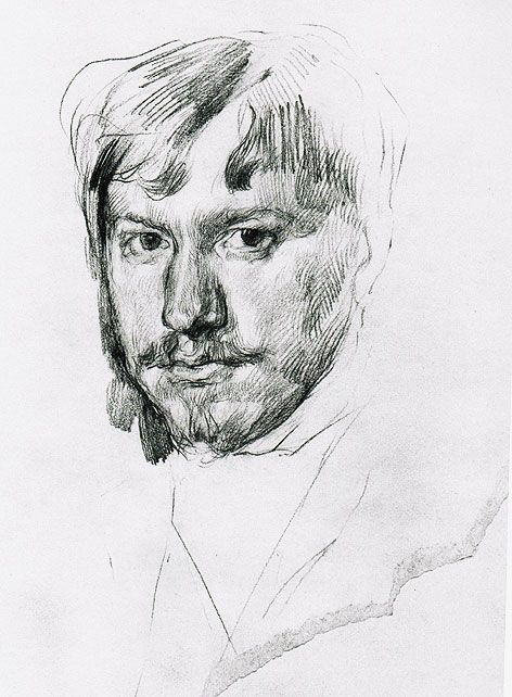 Серов Валентин Александрович. Автопортрет