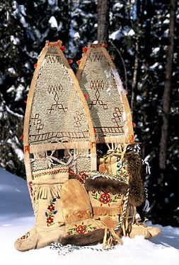 Canada, Quebec, Saguenay-Lac St Jean, snowshoes