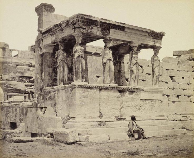 The Caryatid porch of the Erechtheum, Athens. Francis Bedford, 1862.