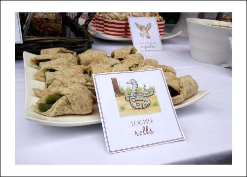 Gruffalo Party Food Logpile Rolls