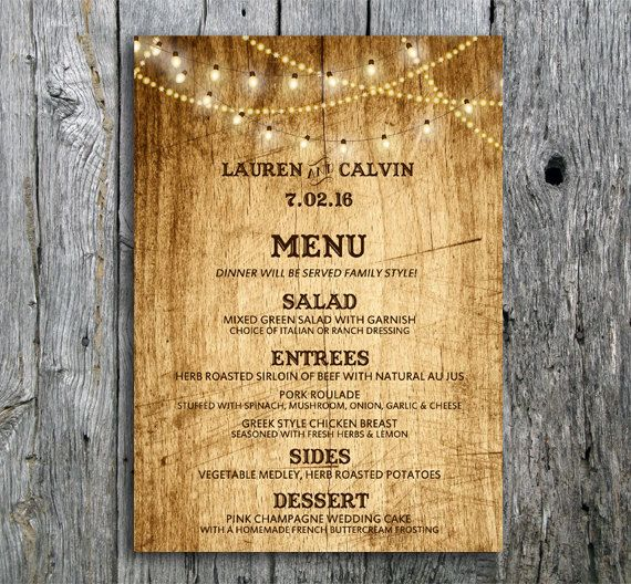 25 Best Rustic Lighting Ideas From Etsy To Buy In 2019: Best 25+ Rustic Wedding Menu Ideas On Pinterest