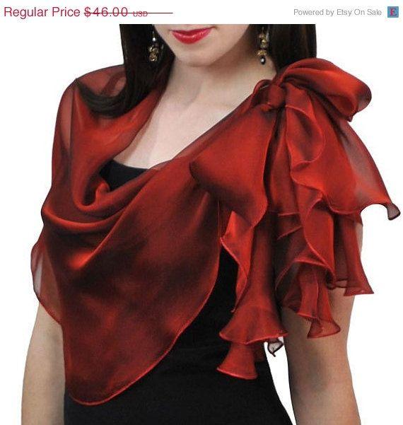 Promotional price Dark Red  Silk Wrap op Etsy