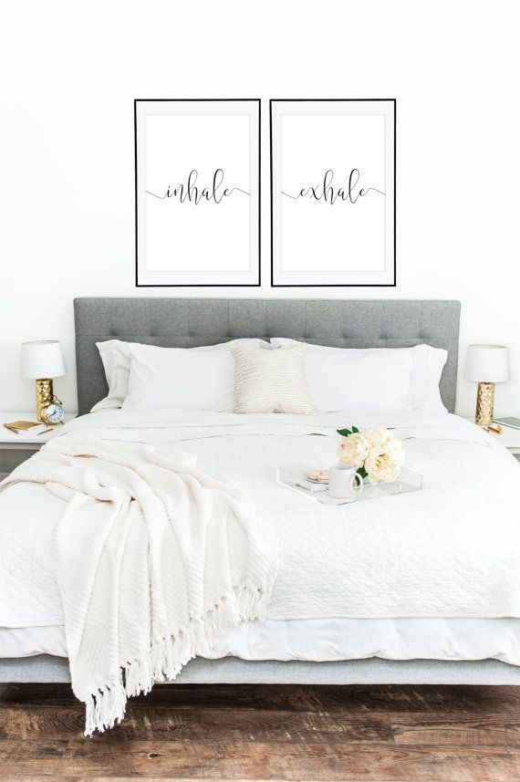 PRINTABLE WALL ART Inhale Exhale 2 Posters 24x36 by LuminousPrints