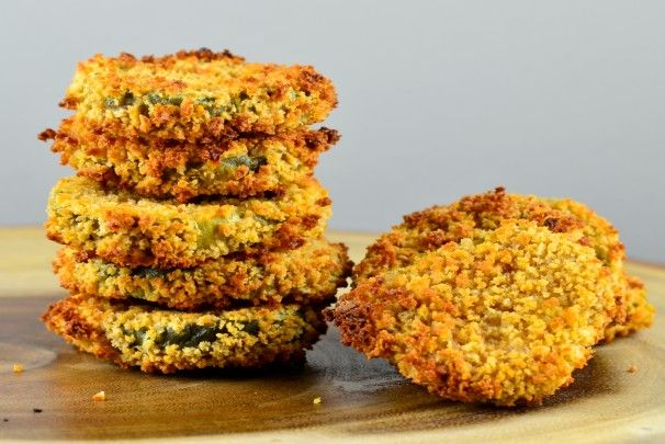 """Oven Baked """"Fried"""" Pickles. Photo by May I Have That Recipe"""