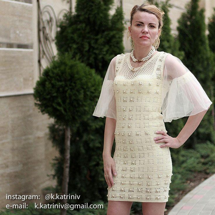 Платье коктейльное вязаное крючком. Цена 12 000 руб. 📌ПРОДАНО📌 Вяжу интересные заказы для вас👍😊пишите на почту👉k.katriniv@gmail.com