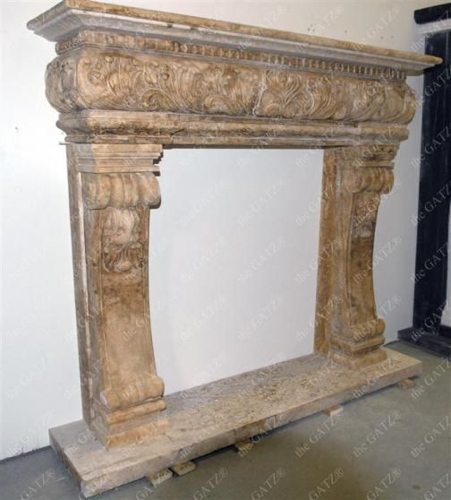 Custom tuscan marble fireplace mantel from for Ramsey fireplace