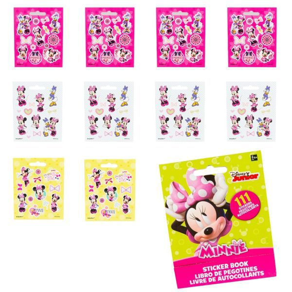 Minnie Mouse Sticker Book 9 Sheets In 2020 Minnie Mouse Stickers