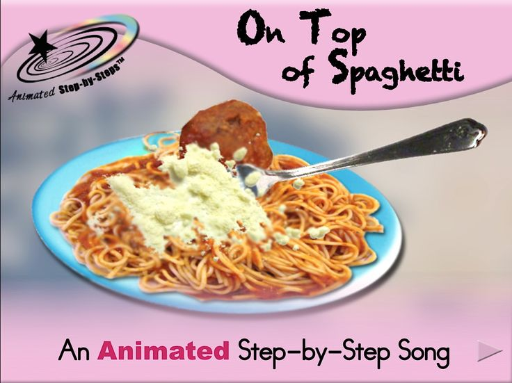 On Top of Spaghetti Song - Animated Step-by-Step Song Available in 3 formats: Regular, SymbolStix, PCS
