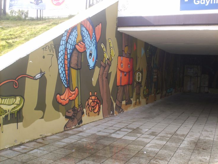 Gdynia -  All train station as beautiful street art