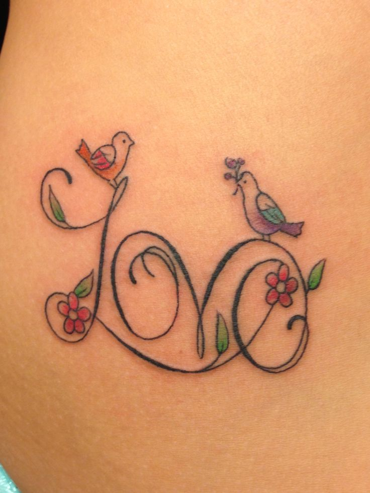 I so want this but instead of love with my husbands name & more leaves! Bigger birds too!<3