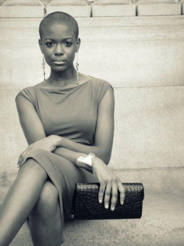 <3 BLACK BALD BEAUTY <3 40 Beautiful Bald Women Styles to get Inspired with ||| Beautiful Bald Women ||| Bald Women ||| Fenzyme.com