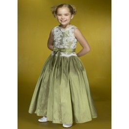 Green Jewel Taffeta Flower Girl Dress with Lace Applique and Sash Bow,wedding dress trunk sale,wedding attire for bride,apple green bridal dresses,cheap tiara combs