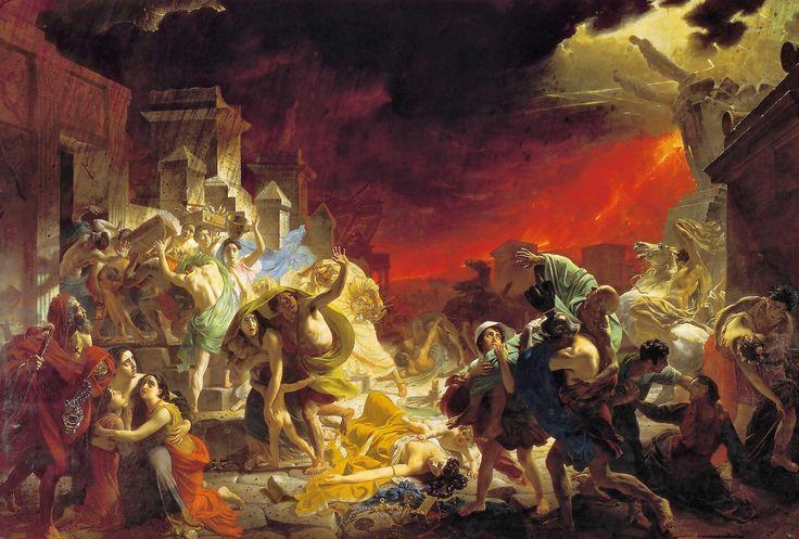 Последний день Помпеи. 1830-1833. Холст, масло. 465,5 × 651. ГРМ.