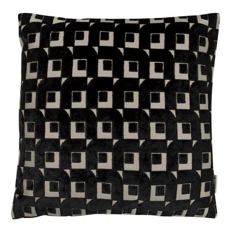 Pugin Noir Cushion | Designers Guild